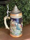 Vintage Western Germany Beer Mug Stein  AUF DER ALM, DA IST ES SCHON