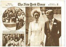 Edward V111 Abdication 13 June 1937 Duke and Duchess Royal Exile and His Bride