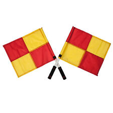 OSG Official Checkered Linesman Referee Flags Pair Soccer Hockey Rugby