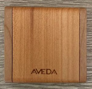AVEDA Vintage Wood Compact Make-Up Travel Mirror, Double Mirror w/ Magnification