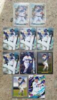 Gavin Lux 2020 Topps 10 Card Rookie Lot Los Angeles Dodgers 🔥