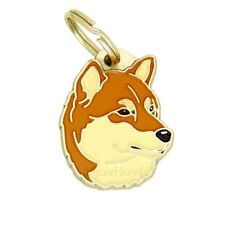 Dog name ID Tag,  Shiba Inu, Personalised, Engraved, Handmade, Charm