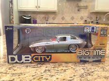 2005 Jada Dub City 1:18th 1963 Chevrolet Corvette Silver SWC Factory Sealed !