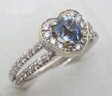 14 Karat White Gold , Aquamarine and Diamond Ring