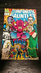 1991 MARVEL COMIC INFINITY GAUNTLET #5 VF/NM THANOS KEY