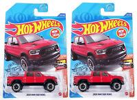 Hot Wheels 1:64 Die Cast 2020 RAM 1500 Rebel HW Hot Trucks Red lot of 2