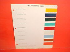 1955 1956 DODGE PICKUP TRUCK TOWN POWER WAGON PANEL PLATFORM STAKE PAINT CHIPS
