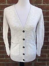 Madewell Women's XS Graduate Cardigan Button Up Sweater Ivory Cotton