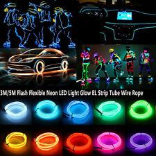 3M 5M Flash Flexible Neon LED Light Glow EL Strip Tube Wire Rope Car Party Light