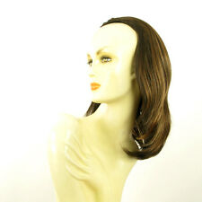DT Half wig HairPiece extensions chocolate clear poly mesh copper 15.7 :21/627c