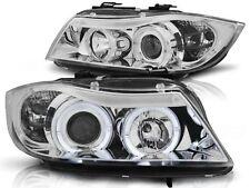 HEADLIGHTS RHT LPBM75 BMW 3 SERIES E90 / E91 2005 2006 2007 2008 ANGEL EYES