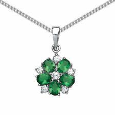 Blumen Modeschmuck-Halsketten & -Anhänger mit Zirkonia-Hauptstein