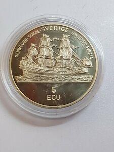 5 ECU 1992 Excellent Condition Coins Sweden