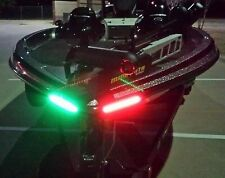 "Boat Bow LED Lighting RED & GREEN - 8"" Strips Fully Submersible"