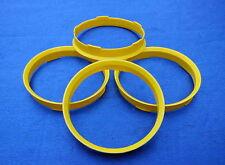 4 anneaux de centrage de 72,6 mm sur 65,1 mm Jaunes.