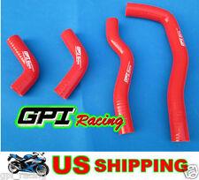 GPI Racing Honda CRF450X CRF 450X 2005-2013 14 15 13 silicone radiator hose red