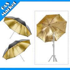 "2pcs 33"" Black & Gold Studio Flash Umbrella 33in Photography Lighting Umbrella"