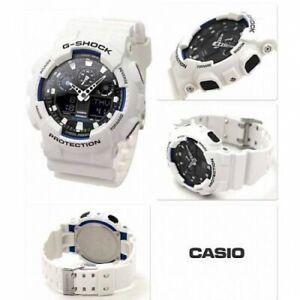 Casio G-Shock Men'S Watch GA-100B-7AER White Resine Robust Protection Sport