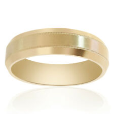 Fit Satin Finish Wedding Band 6.5mm 14K Yellow Gold Comfort