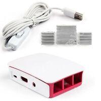 Official Caso + USB Poder Cable + Aluminum Disipador Para Raspberry Pi3 Modelo B