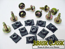 """20x 1946-80 Buick 5/16"""" J Type Floating Cage U Nuts & 5/16""""-18 Hex Head Bolts"""