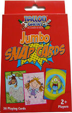 PACK OF 36 JUMBO SNAP CARDS - KIDS / CHILDREN / FAMILY FUN / CARD GAMES - NEW
