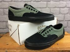 VANS MENS UK 9 EUR 43 ERA HARRY POTTER SLYTHERIN BLACK GREEN SNAKE TRAINERS K
