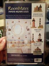 Prepasted Lighthouse Wallpaper Cutouts 24pcs