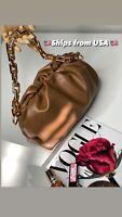 Inspired on Bottega ,Women Bags High Quality Thick acrylic Chain Hobos Dumplings