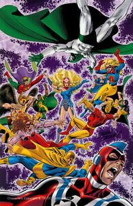Jerry Ordway SIGNEDDC Comic JSA CRISIS Art Print Spectre Green Lantern Dr. Fate