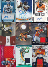 Lot of 9 Denver Broncos Autograph, Jersey, Relic and #'d cards