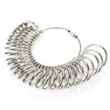 Metal Ring Sizer Finger Gauge Jewelry Tool US Size Measuring Wedding