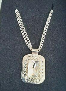 Swarovski Crystallized Elements Silver Plated Pendant Necklace T Arrigoni