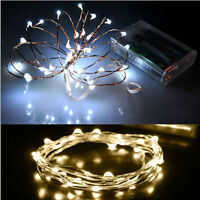 Xmas 2M 20 LEDs Battery Operated Mini LED Copper Wire String Fairy Lights Hot