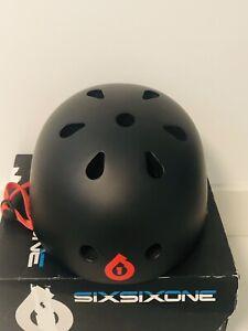 New In Box Men's SIXSIXONE 661 Dirt Lid Helmet Black Red Bike Skateboard Scooter
