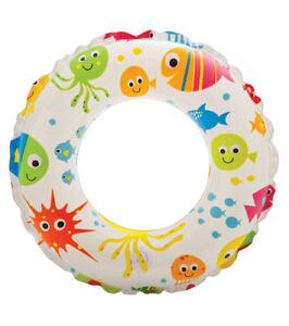 "20"" Intex Inflatable Kids Swim Ring Swimming Beach Pool Childrens Float Assorted"