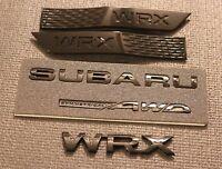 NEW for subi W-RX GLOSS BLACK BUNDLE REAR BADGE + BLACK FENDER BADGE  2015+ W-RX