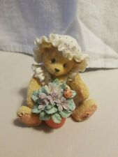 """New Cherished Teddies Enesco Violet """"Blessing Bloom when You are Near"""" 1995 Bear"""