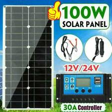 100W 18V Dual USB Flexible Solar Panel Battery Charger Controller Boat Car K8B5