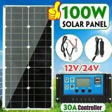 100W 18V Dual USB Flexible Solar Panel Battery Charger Controller Boat Car K8B5