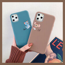 Cute Cartoon Tom And Jerry Soft TPU Phone Case Cover For 11 Max X XR Xs 6s 7 8