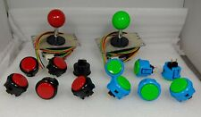 Japan Sanwa 12 Mix Buttons K-R, B-G & 2 Joystick OBSF-30 Video Arcade Game Parts
