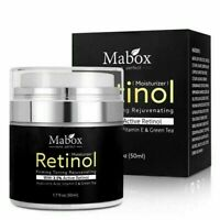 Mabox 50ml Retinol 2.5%Moisturizer Face Cream Hyaluronic Remov Anti Acid Wr B4N0