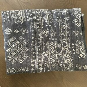 """Restoration Hardware GOA Sham by Clay McLaurin King Lounger 30x42"""", Washed Black"""