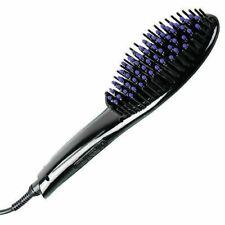 Electronic Fast Hair Straightener with Detangling Bush – 446 Degrees – Black