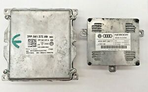OEM 16-18 Audi Q3 LED Computer Module Kit Control Unit 7PP941572AB 4G0907397T