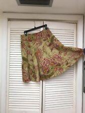 Lauren Ralph Lauren,100% Linen Printed Skirt, Side Zipper, Pockets, Sz 8P, EUC!