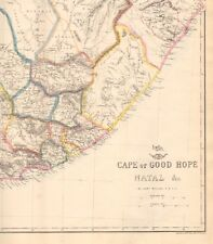 1863  LARGE ANTIQUE MAP - DISPATCH ATLAS- CAPE OF GOOD HOPE, NATAL &c