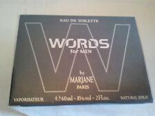 WORDS FOR MEN By Marjane 60ml EDT Spray Men's Perfume Fragrance Rare Hard Find