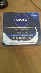 nivea daily essentials night cream normal skin regenerating 50ml